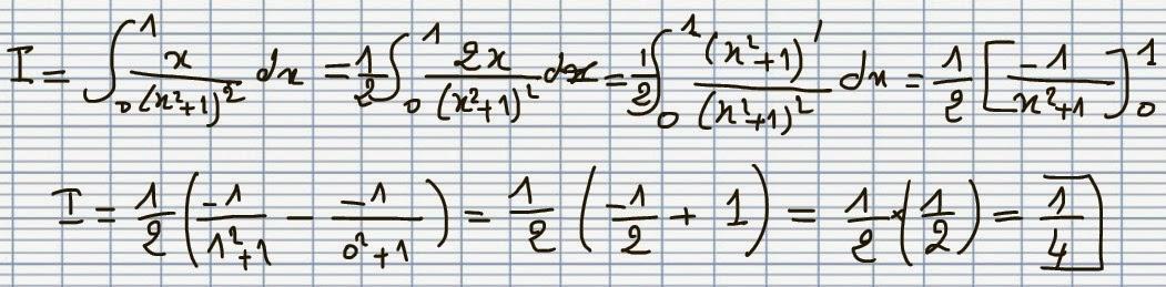 سلسلة حساب التكامل - س1- Calcul d'integrale
