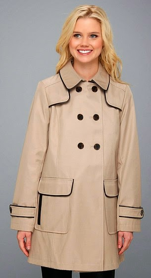 piped trench coat dkny