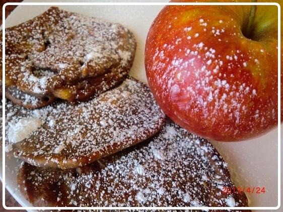 Placuszki czekoladowo kakaowe z jabłkami