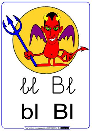 Fichas para trabajar las sílabas bl_