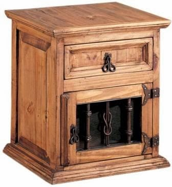 Muebles de forja dormitorios forja y madera r sticos - Mesillas de forja ...