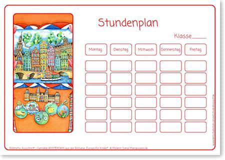 Stundenplan - Motiv: Amsterdam