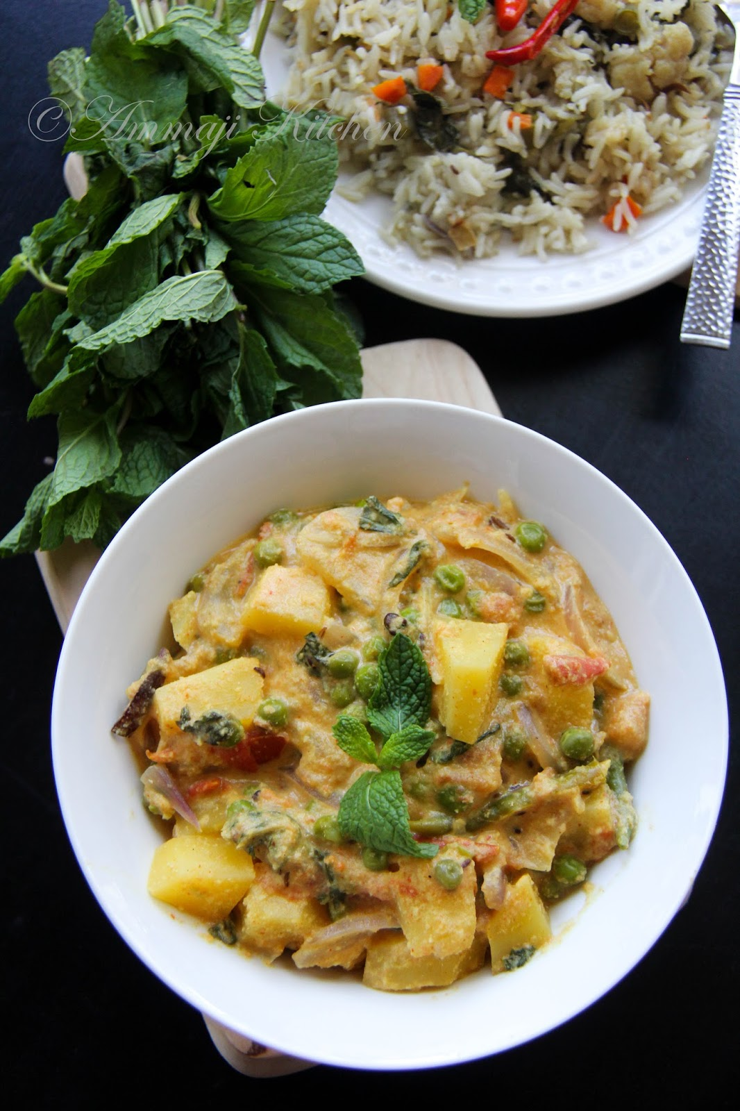 Potato Peas Kurma