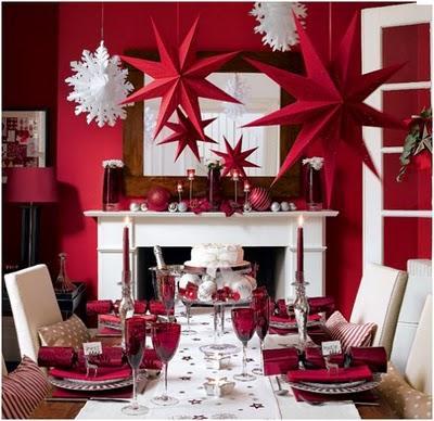 algunas ideas para decorar la fiesta de navidad