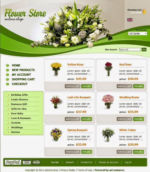 Thiết kế website bán hàng hoa tươi