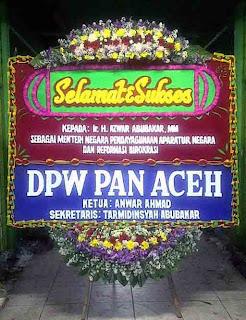 bunga ucapan selamat atas pelantikan menteri negara