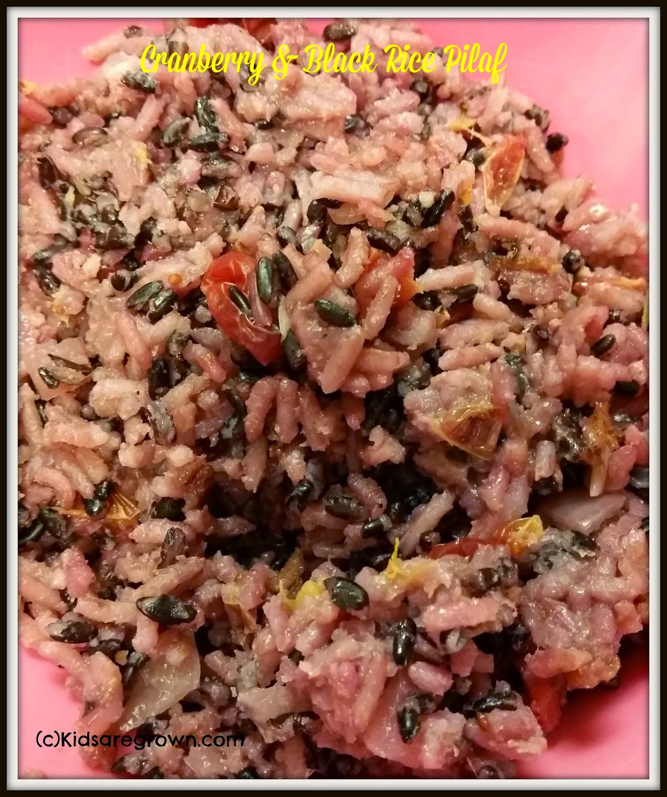 Cranberry & Black Rice Pilaf