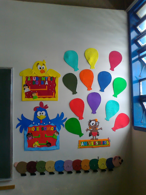 decoracao de sala galinha pintadinha:ARTES DA ADRIANA: Painel de Sala de aula da Galinha Pintadinha