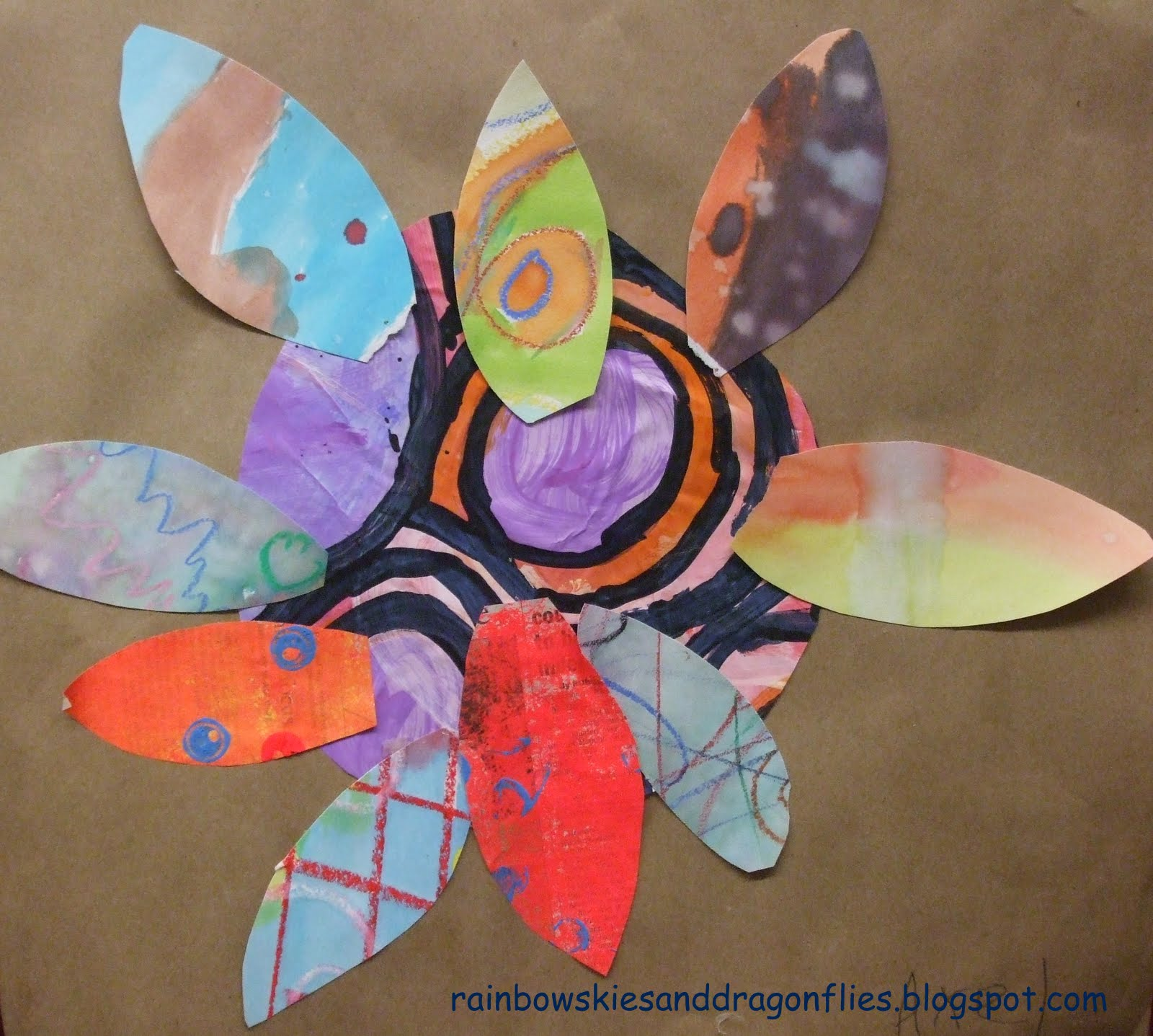 Rainbow skies dragonflies april is national autism for Painted paper flowers