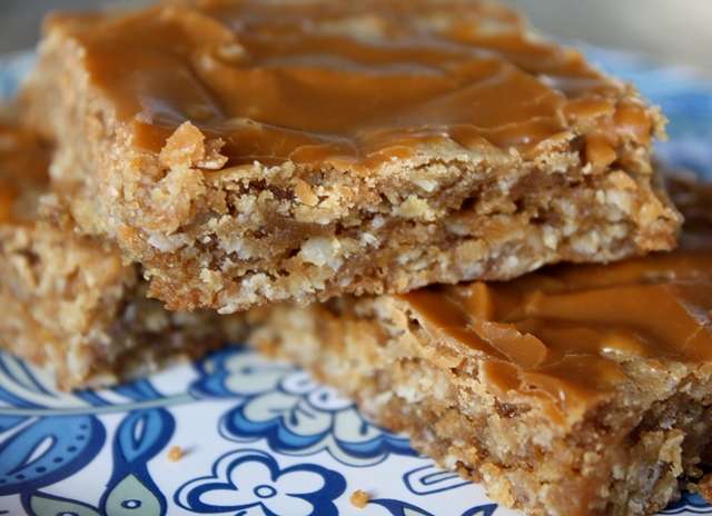 Oatmeal Butterscotch Bars recipe by Barefeet In The Kitchen