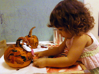 Toddler Halloween Pumpkin Decorating Activity