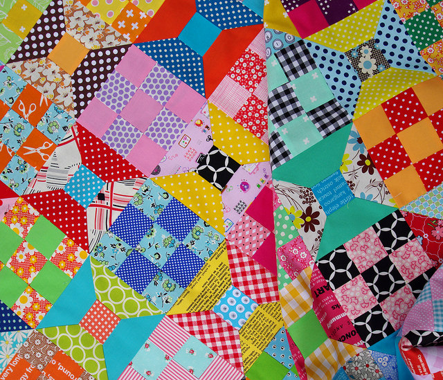 Spool and Nine Patch Quilt - TUTORIAL | Red Pepper Quilts
