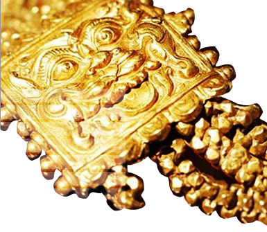 gold armlet dating from the 14th century