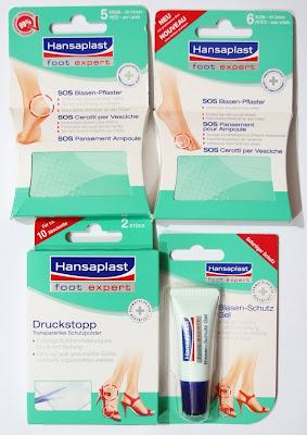 Hansaplast Foot Expert SOS Blasen-Pflaster und andere Produkte gegen Blasen an den Füßen