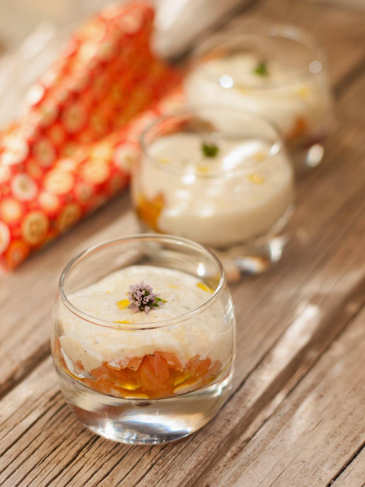 Bocados dulces y salados tzatziki con salm n ahumado - Aperitivos de salmon ahumado ...