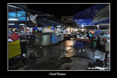 moslem in thailand, krabi, night market, street vendor, islam thailand, pasar malam, menu halal thailand