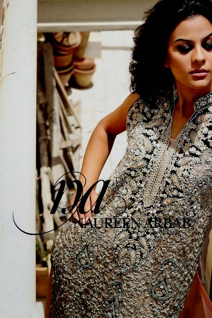 Naureen Arbab Clothing- Formal Designer Dress Collection 2014