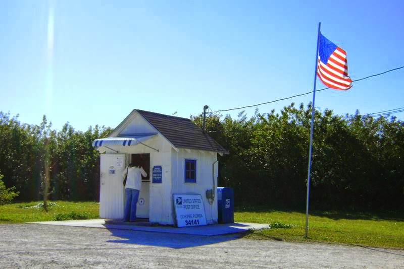 The Ochopee Post Office is the smallest post office in the United States. A regular stop on the south Florida tourist circuit.