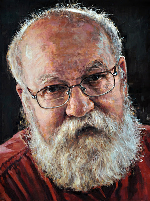 Daniel C. Dennett portrait painting