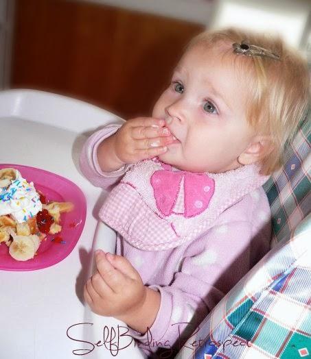 birthday waffles, first birthday,