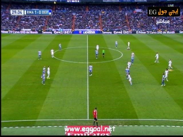 اهداف مباراة ريال مدريد 2 × 0 ديبورتيفو لاكورونيا - إيسكو + بنزيمة-