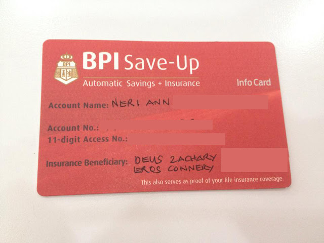 Emergency Fund: BPI Direct Save-Up + Insurance