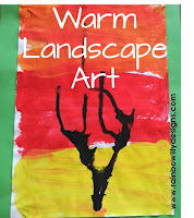 warm landscape art www.rainbowlilydesigns.com