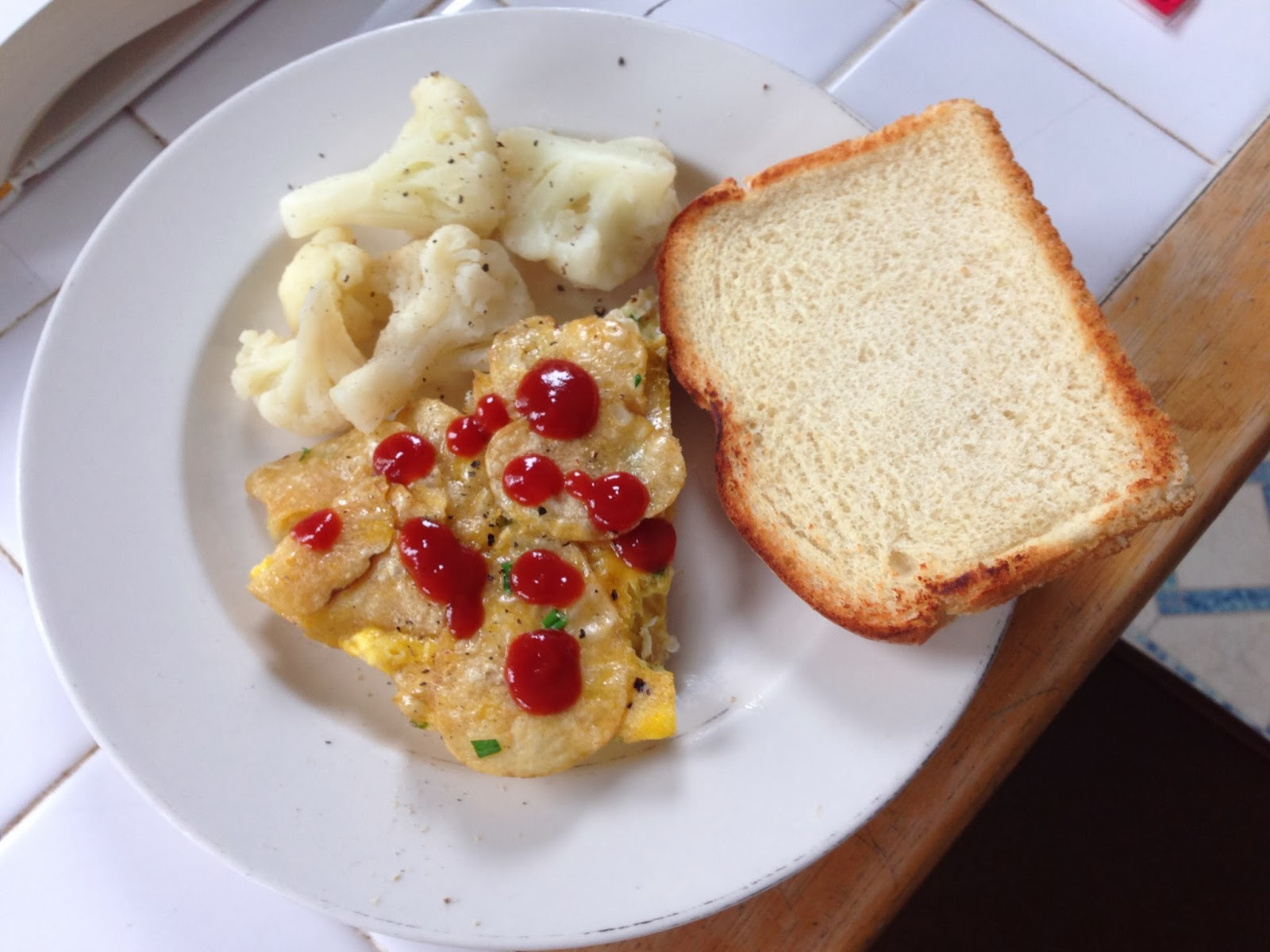 The Accidental Brainwashed Foodie Potato Chip Omelet Tth