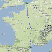 distance france nord sud