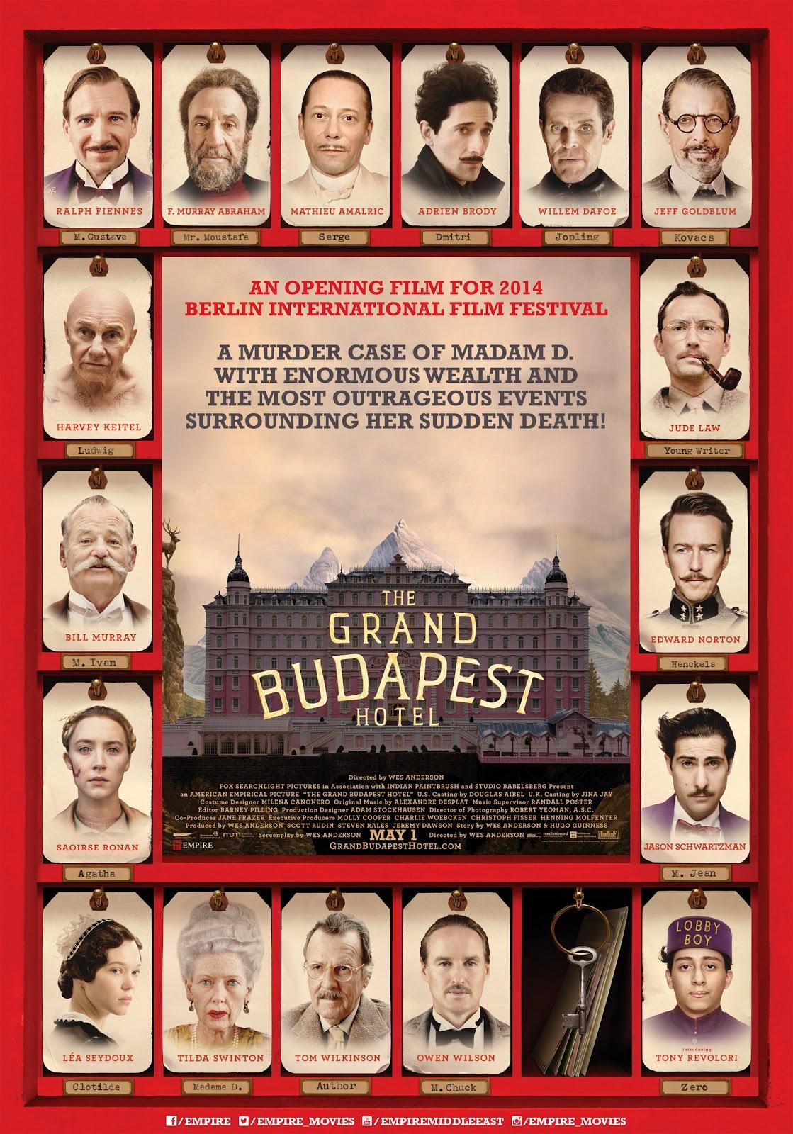 Resultado de imagem para O Grande Hotel Budapeste
