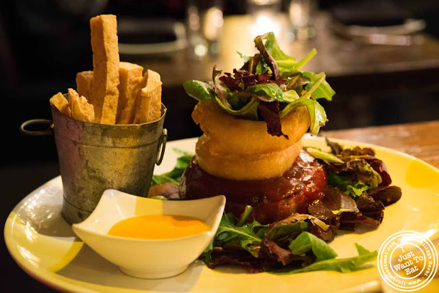 Image of Veggie Burger at Ember Room from Chef Kittichai in NYC, New York