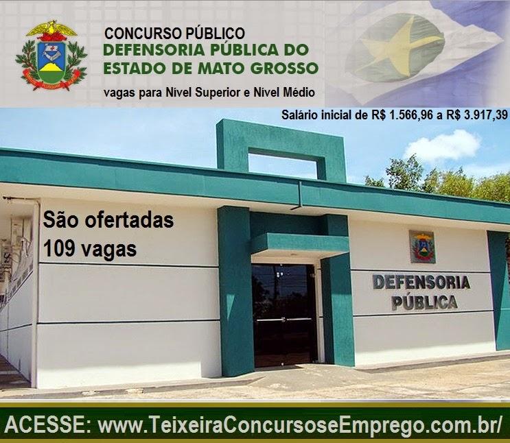 Apostila Concurso Público para a Defensoria Pública do Estado de Mato Grosso para cargo de Nível Médio de Assistente, função Assistente de Gabinete