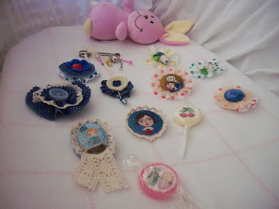 Coleccion de broches artesanales