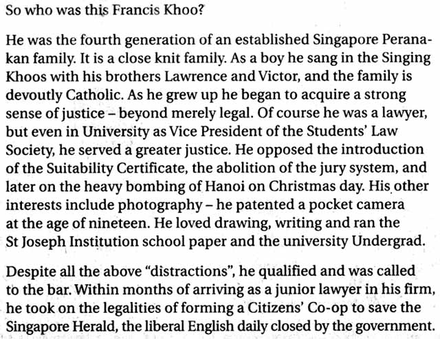 Singapore Notes: November 2011