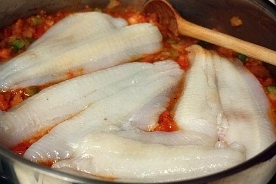 Skillet Cajun Spiced Flounder with Tomatoes   Skinnytaste