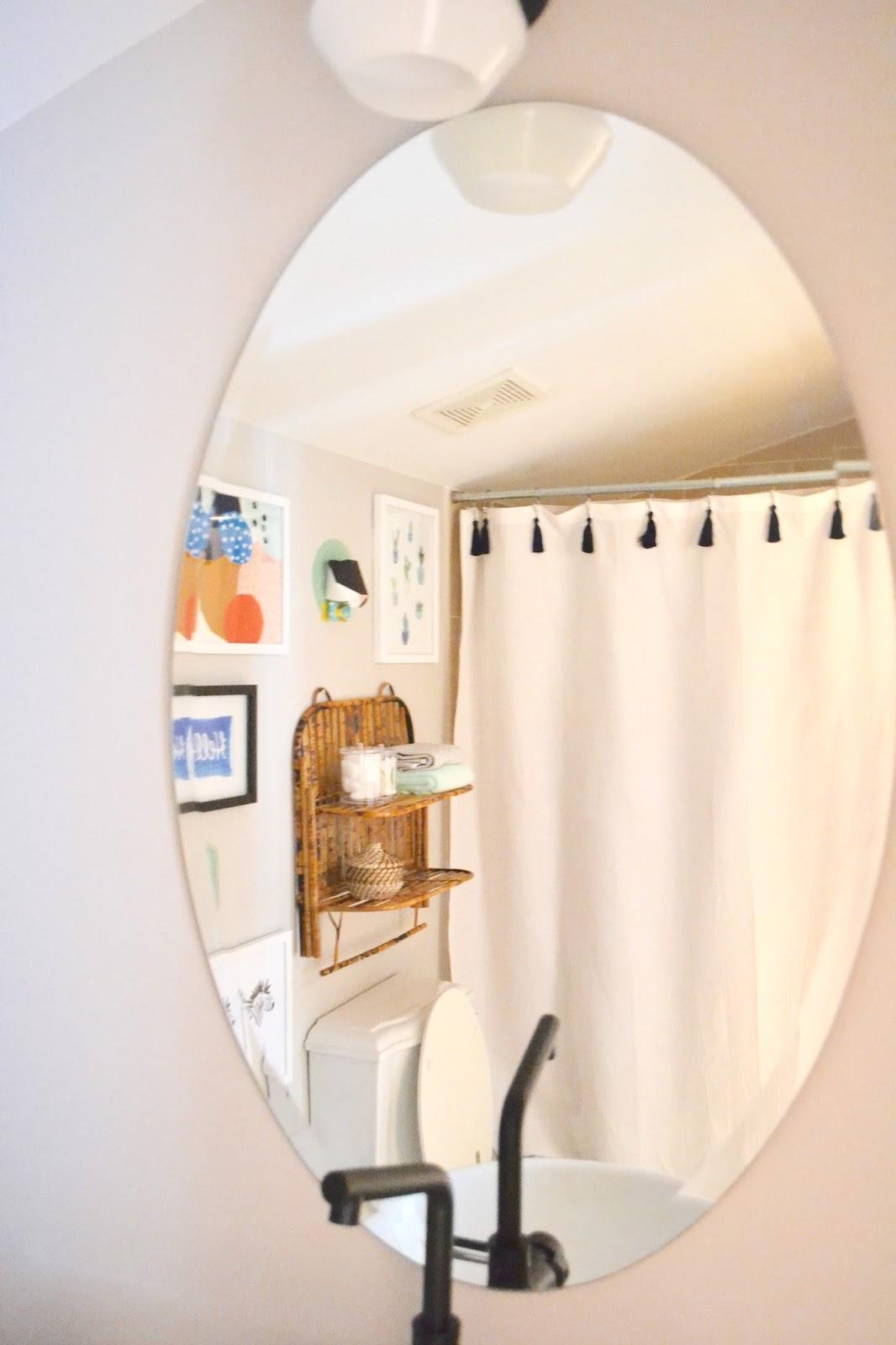 DIY Tassel Shower Curtain 5 Minute