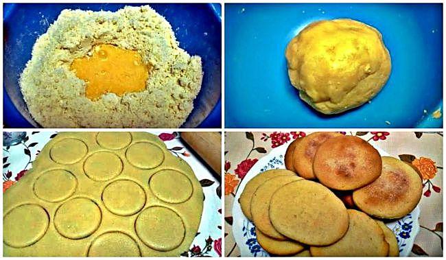 Preparación de las galletas brise