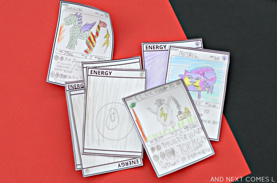 let your kids design their own pokemon cards with this free printable template from and next