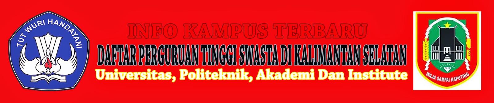 Daftar Perguruan Tinggi Swasta Di Kalimantan Tengah