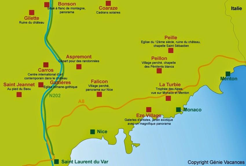 Des villages perchés de l'arrière pays Niçois