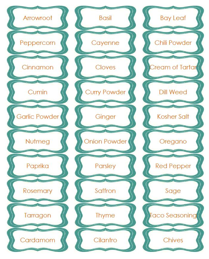 Spice Rack Labels Dorkus Americanus