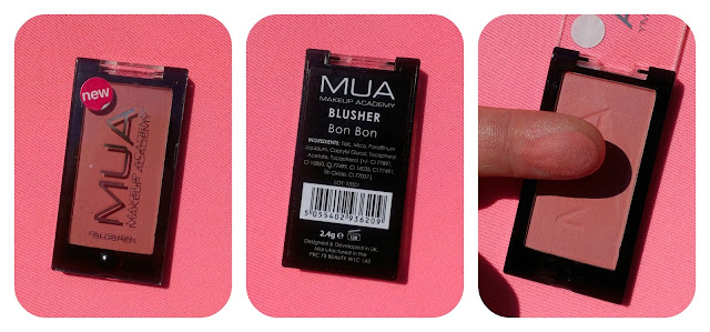 MUA Blush in BonBon Swatch