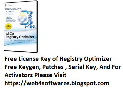 winzip registry optimizer crack serial