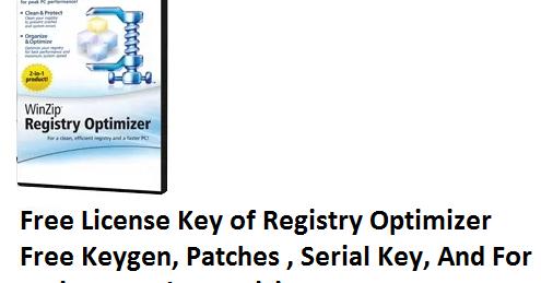 Winzip registry optimizer key