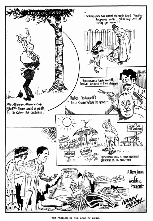 the mcwhirters project high cost of living newspaper cartoons and 1920s Newspaper Headlines saturday september 8 2012