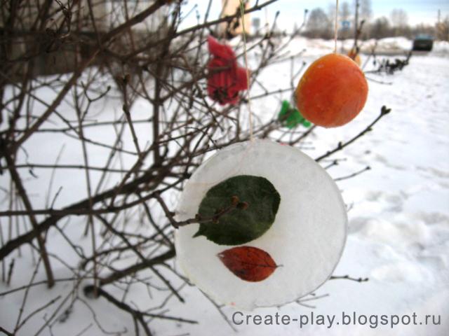 Ледяные игрушки