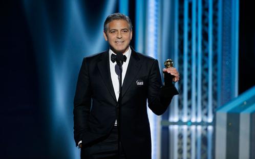 Imagen de George Clooney en los Globos de Oro
