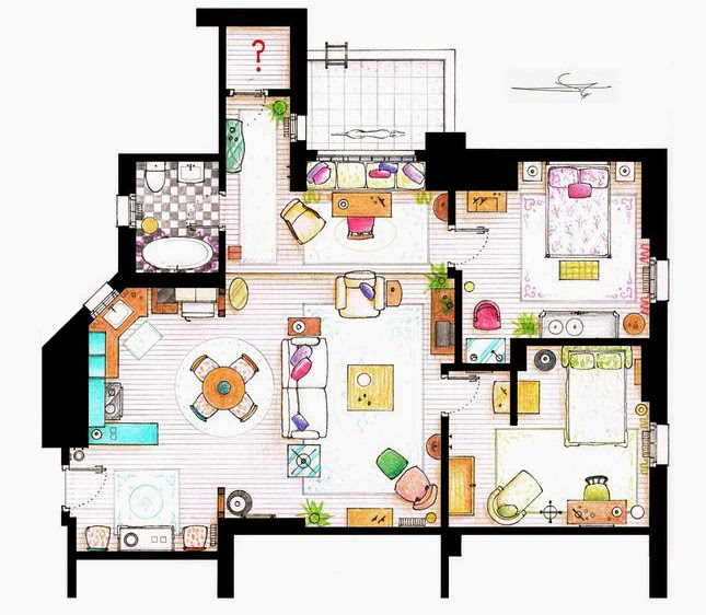 Tech Love Design Floor Plans Of Your Favourite Tv Shows