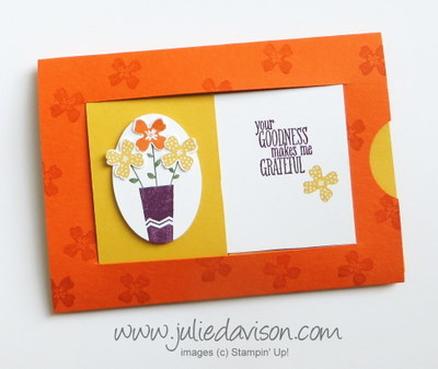 Stampin' Up! Pictogram Punches Hidden Message Slider Card