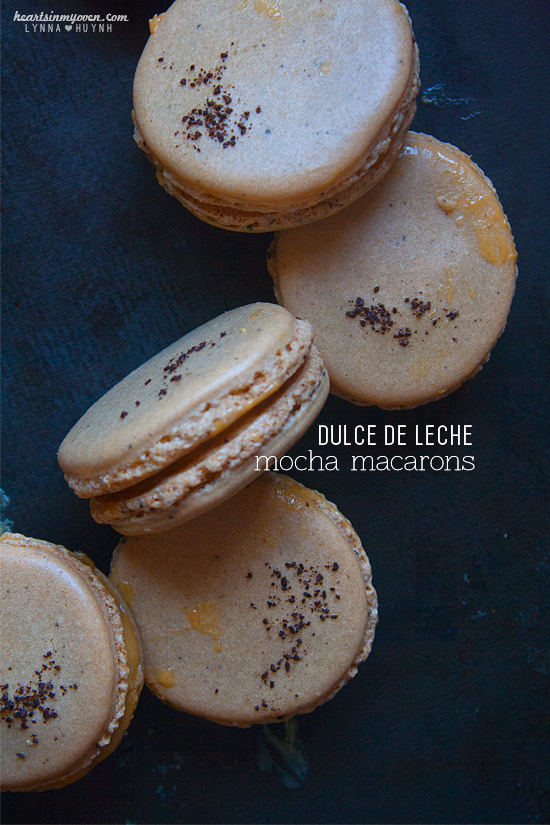 Hearts in My Oven: Dulce de Leche Mocha Macarons